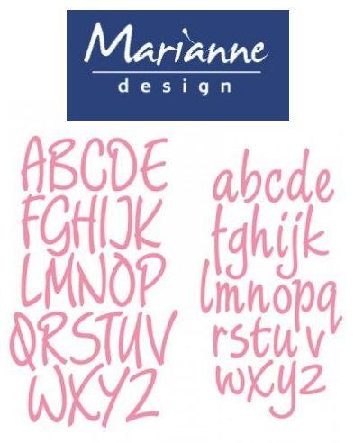 ALPHABET Marianne Design  - Щанци за рязане, ембос COL1397