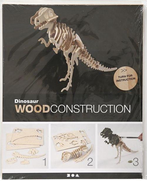 3D Wood Construction Kit DINOSAUR - Дървен конструктор 33x8x23