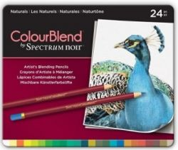# Spectrum Noir Blendable Pencils SET - Метална кутия цветни дизайн моливи 24цв  -  NATURALS