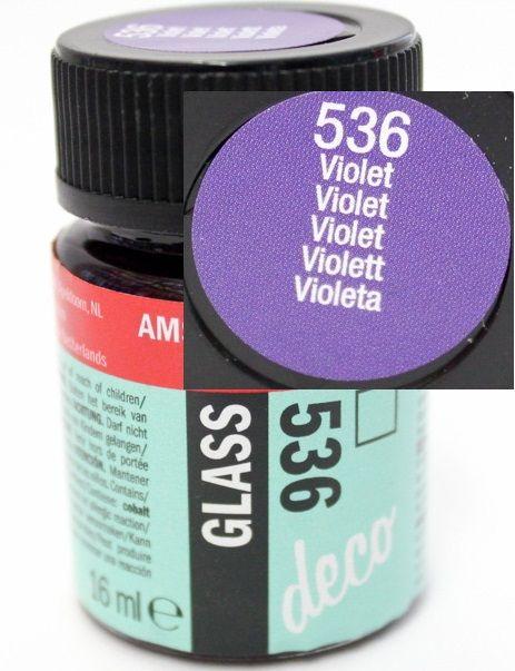 Decorfin Glass, TALENS - Витражна боя от най-високо качество, 16 мл. - Виолет