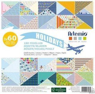 "ARTEMIO SCRAP BLOCK 180SH - Дизайнерски блок 12""х12"" / 180листа Holidays"