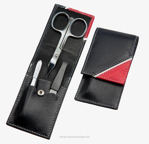 HK manicure SET Germany - Кожен несесер за маникюр NAVY BLUE / WHITE / RED