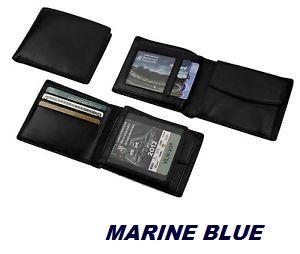 MENS WALLET marine blue - Мъжки портфейл от естествена кожа -HK Germany
