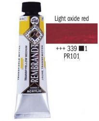 REMBRANDT ARTIST ACRYLIC 40ml -  ПРОФЕСИОНАЛНИ АКРИЛНИ БОИ #  LIGHT OXIDE RED
