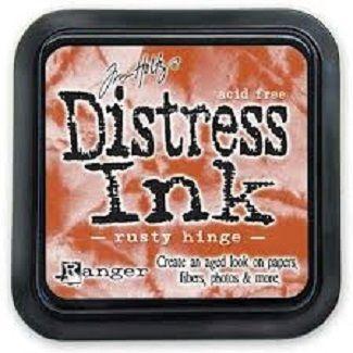 "Distress ink pad by Tim Holtz - Тампон, ""Дистрес"" техника - Rusty hinge"