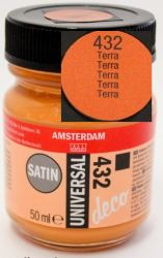 DECORFIN Universal satin, TALENS - Екстра фин акрил 50 ml, 432 TERRA