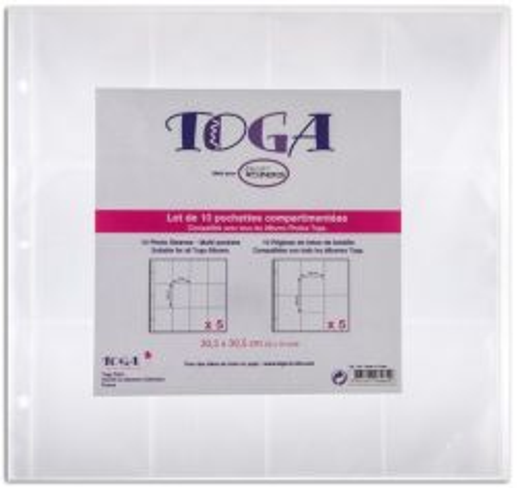 "# PAGE PROTECTORS 12 X 12""  BY TOGA  - Джобове - протектори за албум 30.5 х 30.5 см. 10бр"