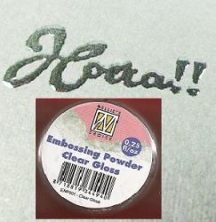 """Embossing powder """"clear gloss"""" 0,25"""