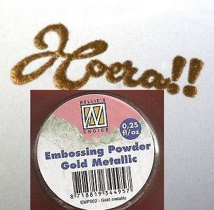 """Embossing powder """"Gold metallic"""" 0,25"""