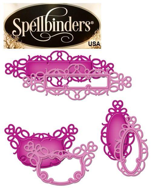 Spellbinders USA  - К-кт шаблони за изрязване и ембос S4-431