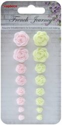 SCRAPBERRYS roses FRENCH JOURNEY (resin) - Деко РОЗИ от полимер