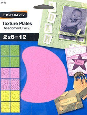 FISKARS TEXTURE PLATES - Плочи  за релеф 14.5х14.5см / 12 мотива