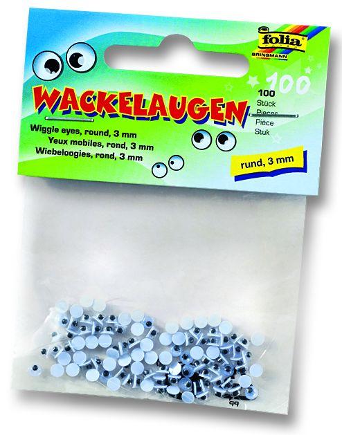 Декоративни очички - 3 мм. пакет 100 бр.