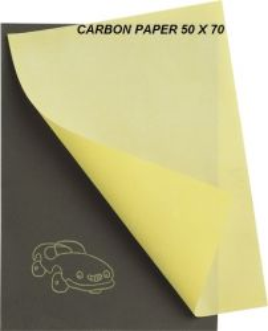 CARBON PAPER yellow 50 x 70 - Графитно индиго за копиране тъмна основа
