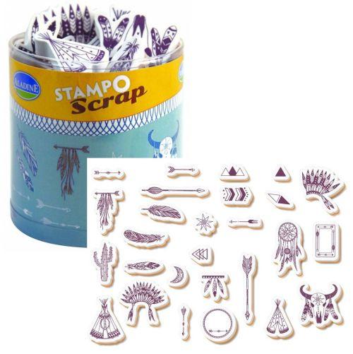 ALADINE STAMPO Scrap - Комплект гумени печати 03739
