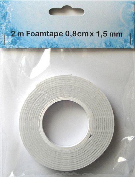 FOAM TAPE  - 3Д двойно лепяща лента 2м x 0.8см х 1.5мм.