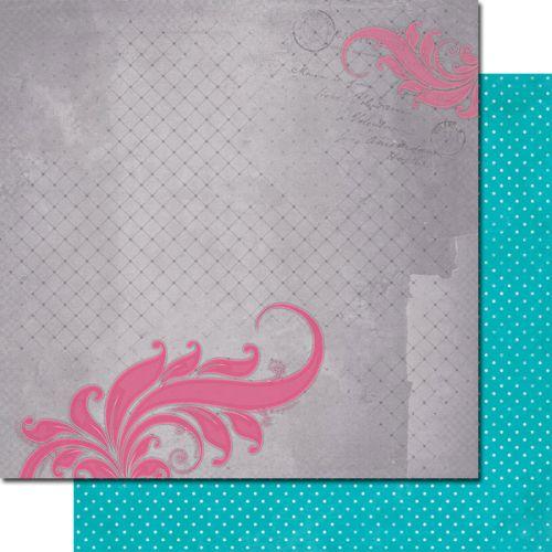 7 DOTS STUDIO # ELISE REBELL - Дизайнерски картон  30,5 Х 30,5 см.
