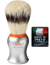 OMEGA 11573 Pure bristle shaving brush BADGER EFFECT 106mm