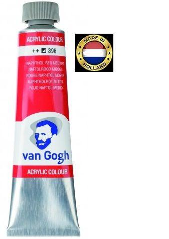 VAN GOGH Superfine ACRYLIC 396 - ЕКСТРА Фин АКРИЛ 40мл. NAPHTOL RED MEDIUM
