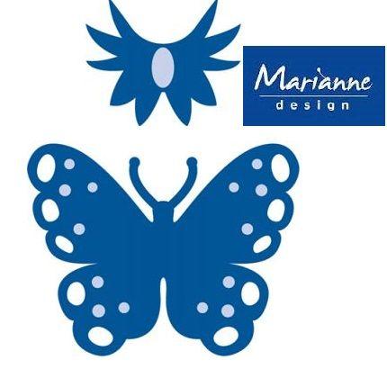 BUTTERFLY Marianne Design - Шаблон за рязане