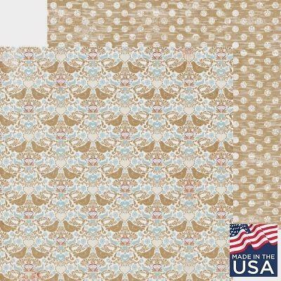 AUTHENTIQUE USA # HEARTY 12 X 12  - Дизайнерски скрапбукинг картон 30,5 х 30,5 см.