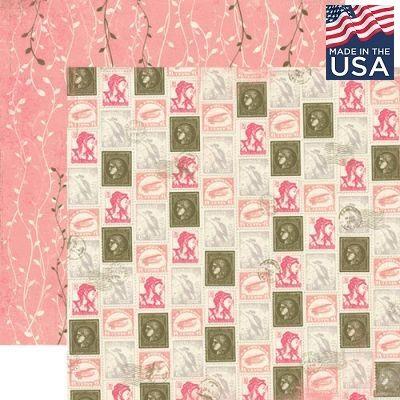 AUTHENTIQUE USA # RARE 12 X 12  - Дизайнерски скрапбукинг картон 30,5 х 30,5 см.