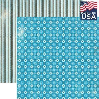 AUTHENTIQUE USA # EXPLORE 12 X 12  - Дизайнерски скрапбукинг картон 30,5 х 30,5 см.