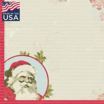 AUTHENTIQUE USA # BELIEVE  - Дизайнерски скрапбукинг картон 30,5 х 30,5 см.