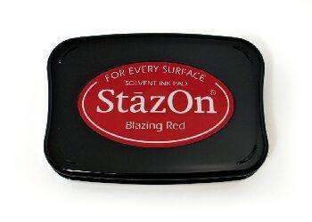 StazOn - тампон за всякаква твърда или гланцирана повърхност - Blazing red