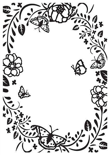 "Embossing Folders ""flower rectangle frame""  - Папка за релеф / hsf016"