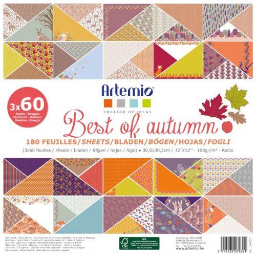 """ARTEMIO SCRAP BLOCK 180SH - Дизайнерски блок 12""""х12"""" / 180листа BEST AUTUMN"""