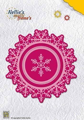 Christmas wreath: snow flake (110x113mm) - Орнаментни щанци за рязане и релеф  MFD109