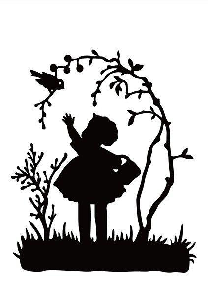 "Embossing Folders ""little girl"" 106x150mm   - Папка за релеф / hsf018"