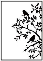 """Embossing Folders""""birds on branch"""" 106x150mm    - Папка за релеф / hsf017"""