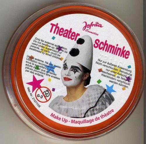 Jofrika - Germany, театрална грим-боя за лице и тяло 25гр. (профи серия) - ОРАНЖ