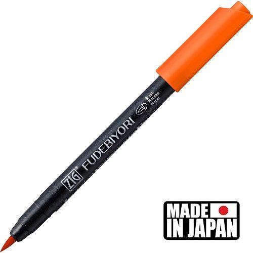 FUDEBIYORI BRUSH PEN * JAPAN - маркер четка SCARLET RED