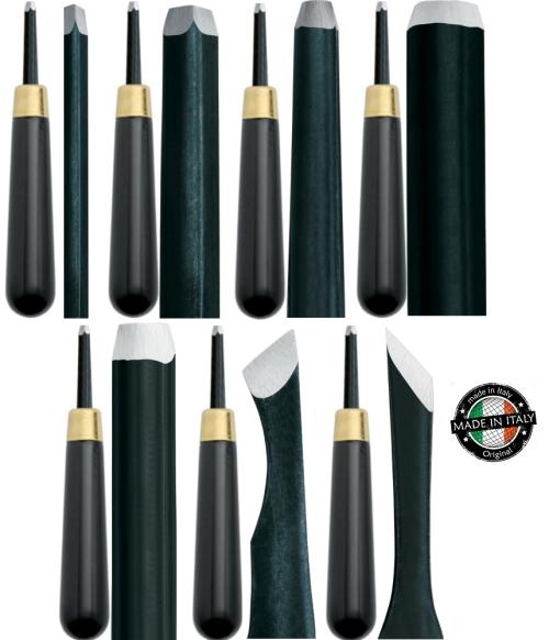 OLD MASTERS CHISEL SET - Комплект 7бр длета за фина дърворезба и линогравюра