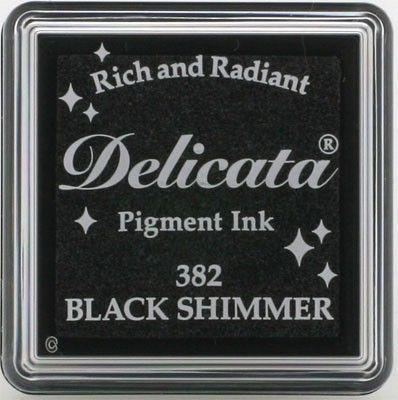 "DELICATA Metallic ""BLACK SHIMMER"" - Тампон с мастило ""черен блясък"""