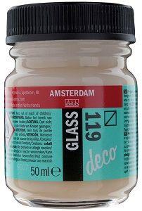 Decorfin GLASS 50ml , TALENS - Витражна боя от най-високо качество  - Прозрачно Бяло