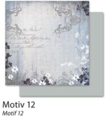 FB  Autumn 12 - Дизайнерски картон с ембос-глитер елементи - 30,5 Х 30,5 см.