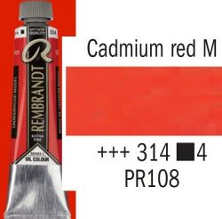 REMBRANDT Екстра Фини Маслени Бои 40 мл. - Cadmium Red Medium 4, № 314