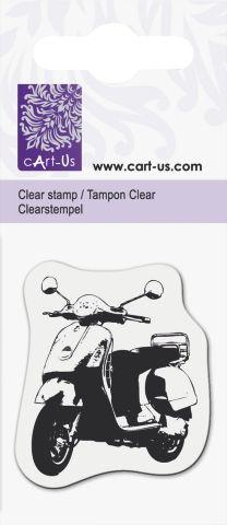 Clear stamp 5x6cm  - Дизайнерски  печат SCOOTER