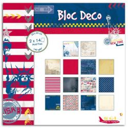 "TOGA BLOC DECO * NEW YORK  - Дизайнерски блок 8""x8"" / 28 листа"