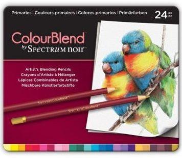 # Spectrum Noir Blendable Pencils SET - Метална кутия цветни дизайн моливи 24цв  -  PRIMARIES