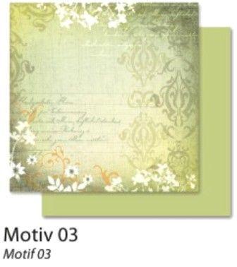 FB Autumn 03 - Дизайнерски картон с ембос-глитер елементи - 30,5 Х 30,5 см.