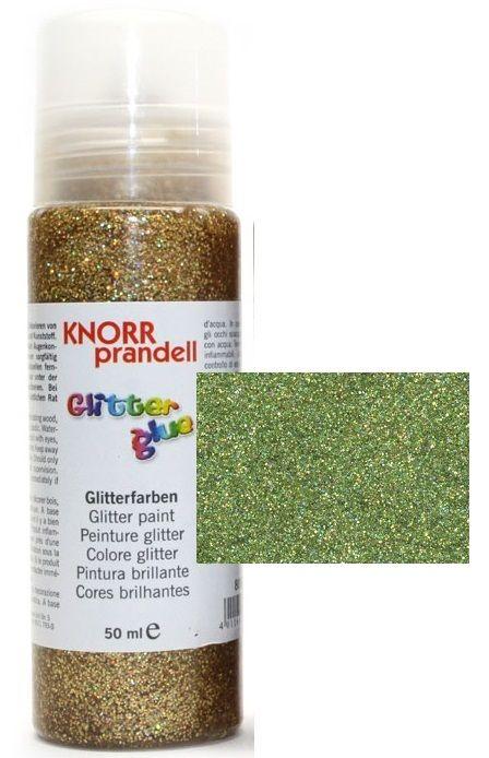 Glitter Glue с накрайник - Брокат контур за декорация 50ml.GREEN