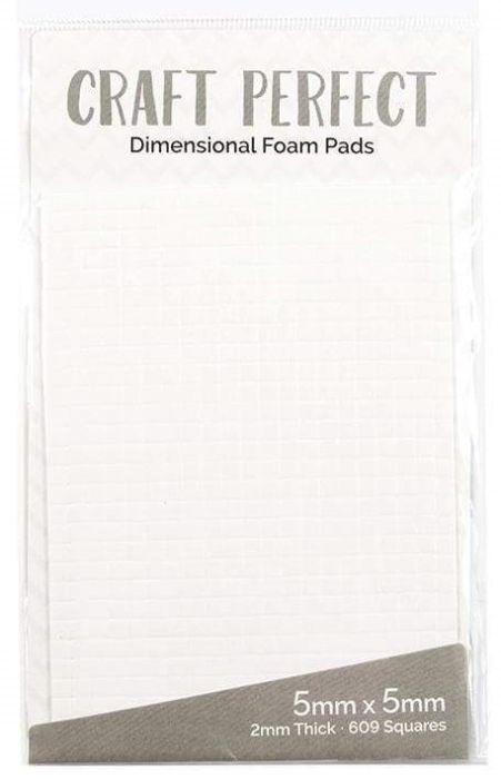 Foam Pads TONIC - 3Д двойно лепящи 5mm squares, 609бр
