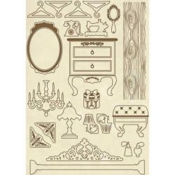 DECO WOODEN SHAPES A5 FURNITURE  - Декоративни дървени елементи - 30бр.