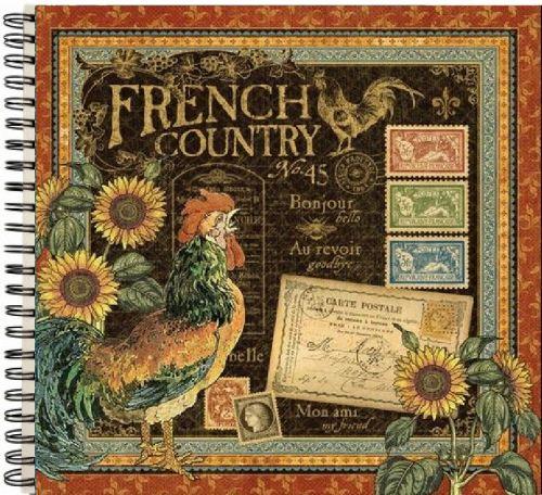 "ALBUM SCRAPBOOKING ""French Country"" - Дизайнерски скрапбукинг албум 36 страници 30,5х30,5 см"