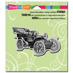 STAMPENDOUS USA - Гумен клинг печат VINTAGE CAR 5,6 x 8,8 см.